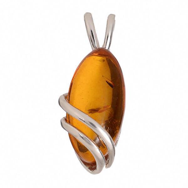 "Baltic Honey Amber Pendant ""Darcie"""