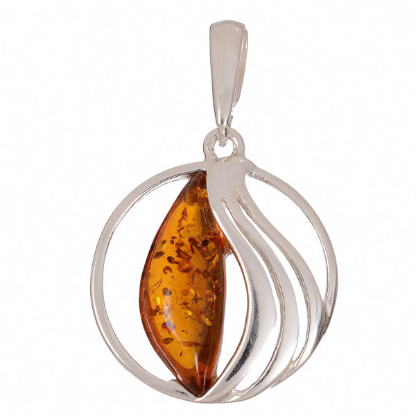 "Baltic Honey Amber Pendant ""Serenity"""