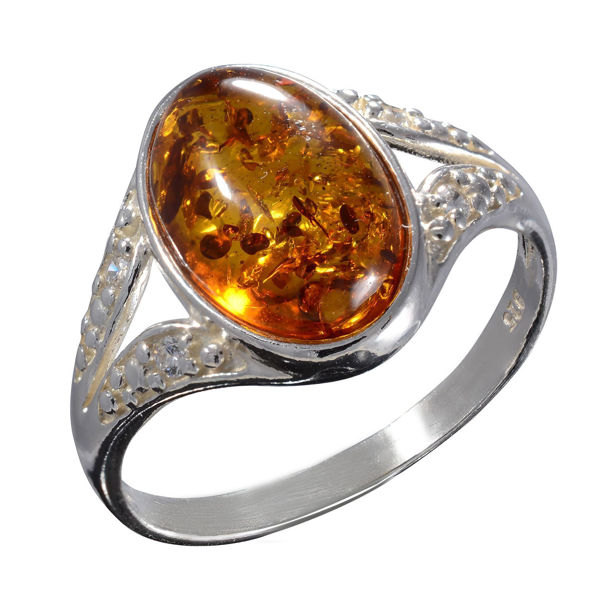 "Baltic Honey Amber Ring ""Salma"""