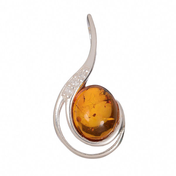 "Baltic Honey Amber Pendant ""Vivian"""