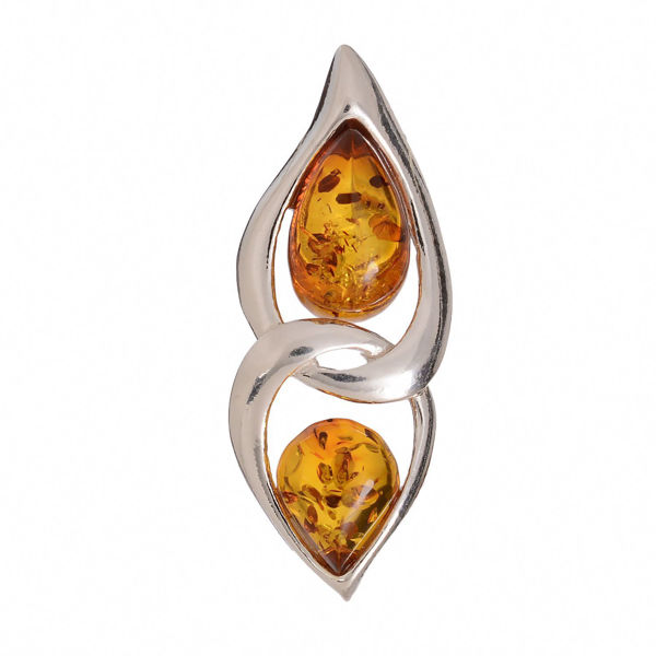 "Baltic Honey Amber Pendant ""Gianna"""