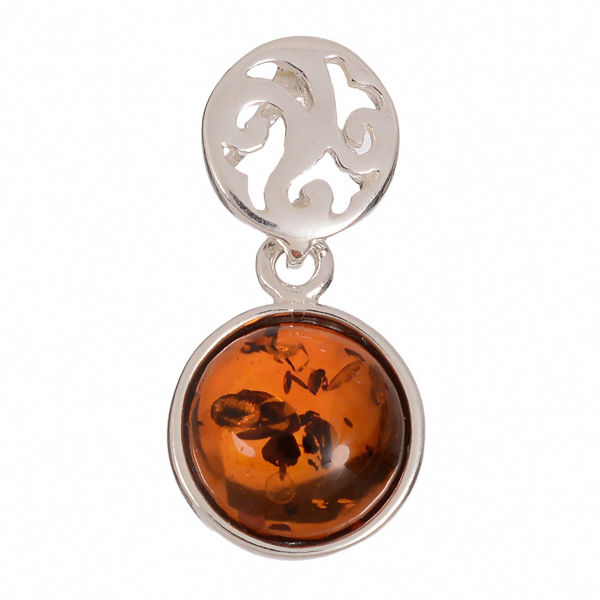 "Baltic Honey Amber Pendant ""Agatha"""