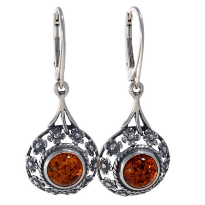 "Baltic Honey Amber Earrings ""Meadow"""