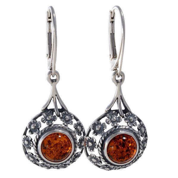 "Baltic Honey Amber Earrings ""Meadow"""