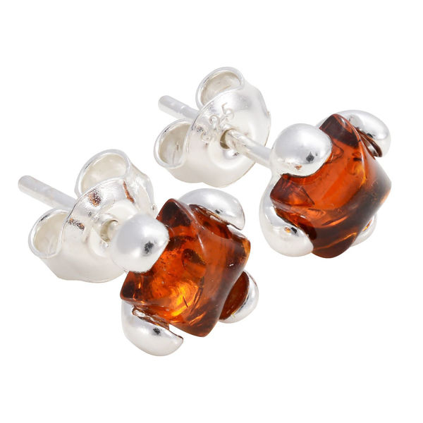 "Baltic Honey Amber Earrings ""Ellie"""