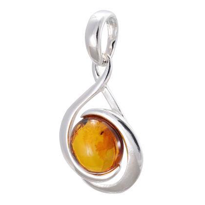"Baltic Honey Amber Pendant ""Raine"""