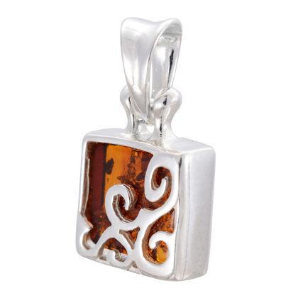 "Baltic Honey Amber Pendant ""Florence"""