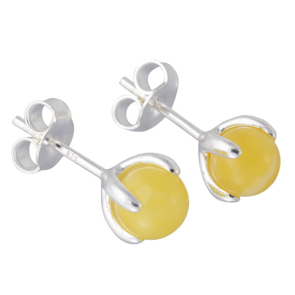 """Sterling Silver and Baltic Butterscotch Amber Earrings """"Sadie"""""""