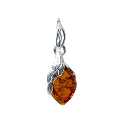 "Sterling Silver and Baltic Honey Amber Pendant ""Maryann"""
