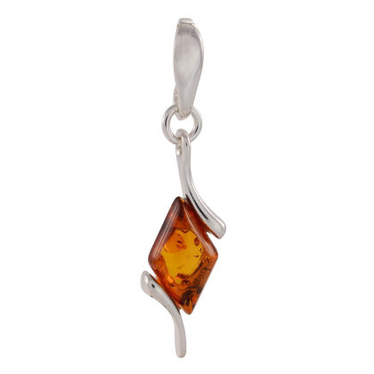 "Sterling Silver and Baltic Amber Pendant ""Agnella"""