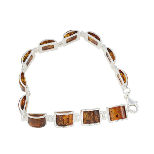 "Sterling Silver Honey Baltic Amber Bracelet ""Lottie"""