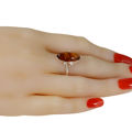"""Sterling Silver and Baltic Amber Ring """"Autumn"""". SKU : 053926479641"""