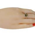 "Sterling Silver and Baltic Green Amber Ring ""Clara"""