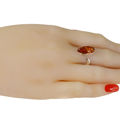 "Sterling Silver and Baltic Honey Amber Adjustable Ring ""Amelia"""