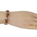 "Sterling Silver Multi-Colored Baltic Amber Bracelet ""Coral Reef"""