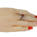"Sterling Silver and Baltic Honey Amber Ring ""Hannah"""