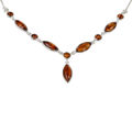 "Sterling Silver and Baltic Honey Amber Necklace ""Nellie"""