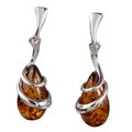 """Sterling Silver and Baltic Honey Amber Earrings """"Zuzanna"""""""