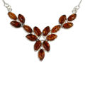 "Sterling Silver and Baltic Honey Amber Necklace ""Annabelle"""