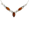 "Sterling Silver and Baltic Honey Amber Necklace ""Iryssa"""