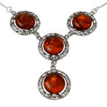 "Sterling Silver and Baltic Honey Amber Necklace ""Isadora"""