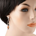 """Sterling Silver and Baltic Honey Amber Post Back Earrings """"Artemis"""""""