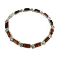 "Sterling Silver and Baltic Honey Amber  Bracelet "" Petra"""