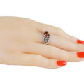 """Sterling Silver and Baltic Honey Amber Ring """"Dorota"""""""