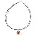 "Sterling Silver Baltic Honey Amber Necklace ""Lauren"""