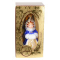 """"""" Snow Maiden in Blue"""" Hand-Painted Glass Christmas Ornament"""