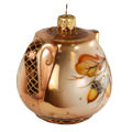 """Oak Collection Teapot"" Glass Christmas Ornament"
