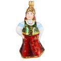 """Tsarina Maria"" Hand-Painted Glass Christmas Ornament"