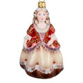 """""""Princess in Bordeaux"""" Hand-Painted Glass Christmas Ornament"""