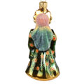 """Tsarina in Green"" Hand-Painted Glass Christmas Ornament"