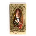 """ Bunny With A Contrabass"" Hand-Painted Glass Christmas Ornament"