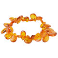 "Cognac Pear Shaped Baltic Amber Bracelet ""Elliana"""