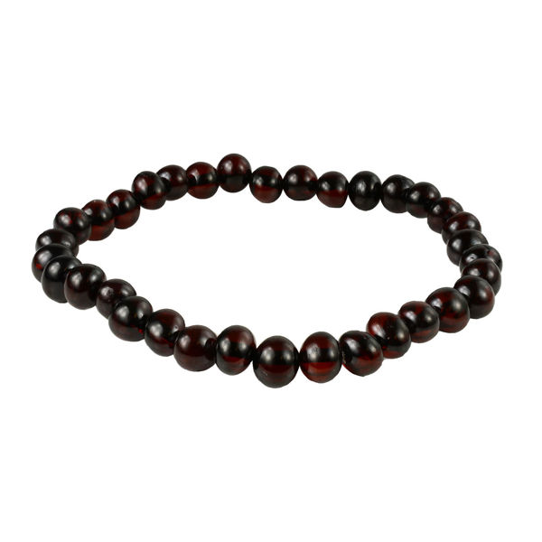 Dark Cherry Amber Baroque Bracelet