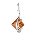 "Sterling Silver and Baltic Amber Pendant ""Bethany"""