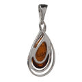 "Sterling Silver and Baltic Amber Pendant ""Micaela"""