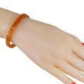 Honey Amber Cube Beads Bracelet