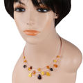 Baltic Multicolored Amber String Necklace