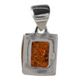 "Sterling Silver and Baltic Amber Pendant ""Lottie"""