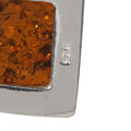 """Sterling Silver and Baltic Amber Pendant """"Lottie"""""""