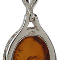 Sterling Silver and Baltic Honey Oval Amber Pendant