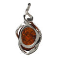"Sterling Silver and Baltic Amber Pendant ""Mia"""