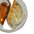 Sterling Silver and Baltic Honey and Lemon Amber Pendant