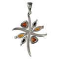 "Sterling Silver and Baltic Amber Pendant ""Evelyn"""