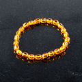 Baltic Amber Polished Oval Beads Bracelet