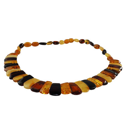 Multicolored Baltic Polished Amber Adult Necklace