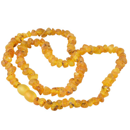 Unpolished Raw Honey Baltic Amber Adult Necklace